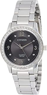 CITIZEN Womens Quartz Watch, Analog Display and Stainless Steel Strap - EL3090-81H