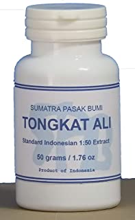 Tongkatali.org's Indonesian Standard Tongkat Ali 1:50 Extract, 50 Grams (1.76 oz)