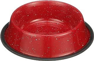 Neater Pet Brands - Camping Style Pet Bowl - Enamel Ware Blue Black Granite Colors - Dog Cat No Tip Skid Bowls