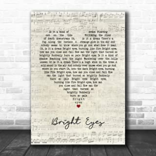 Bright Eyes Script Heart Quote Song Lyric Music Poster Gift Present Art Print