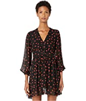 The Kooples - Button Down Dress in a Heart Print