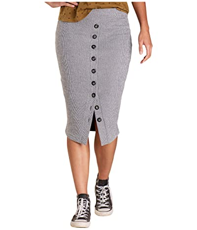 Toad&Co Boogaloo Midi Skirt (Smoke) Women