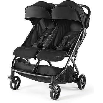 Twin baby stroller detachable two-way double light can sit reclining folding triplet trolley(Gray//blue//burgundy//purple//pink)
