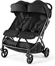Summer 3Dpac CS+ Double Stroller, Black – Car Seat Compatible Baby Stroller – Lightweight Stroller with Convenient One-Han...