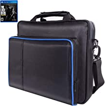 Ps4 Pro Bag, ps4 Carrying case for Console, Controllers, Games,Travel Bag compatiable with ps3&ps4 &ps4 Slim& ps4 pro,PSP Hard case by Win-Digital