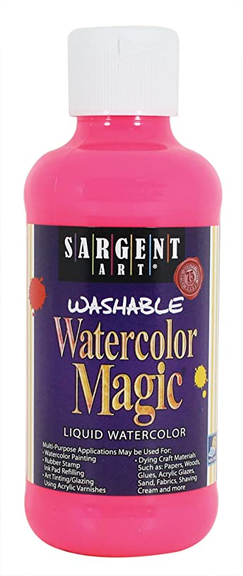 Sargent Art 22-7029 8-Ounce Watercolor Magic, Fluorescent Pink