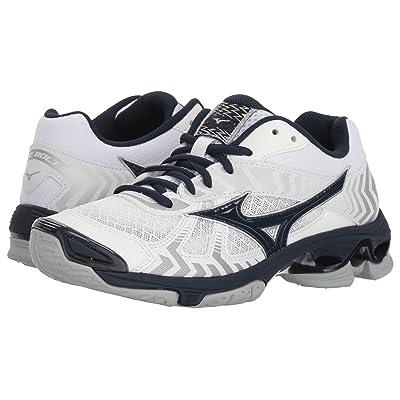Mizuno Wave Bolt 7 (White/Navy) Girls Shoes