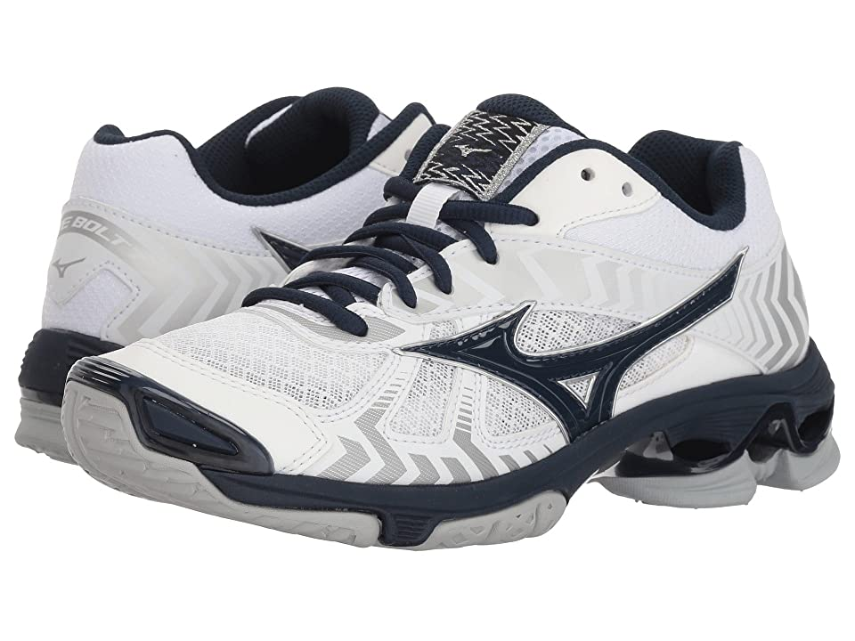 Mizuno Wave Bolt 7 (White/Navy) Girls Shoes