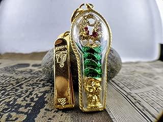 Thai Amulet Necklace Thai Jewelry 22K Gold Diamond Thai Amulet Bring LuckKing King naga