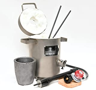 Cast Masters Propane Furnace w 5KG Crucible and Tongs Kiln Smelting Gold Silver Copper..