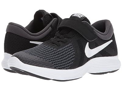 Nike Kids Revolution 4 (Little Kid) (Black/White/Anthracite) Boys Shoes