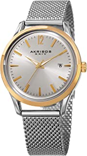 Akribos XXIV Women's Fashion Colorful Quartz Watch - Sunburst Dial - Featuring a Stainless Steel Bracelet - [ AKN930 ]