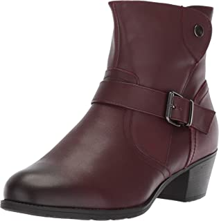Propet Women's Tory Ankle Boot, Rich Burgundy, 8H Wide US