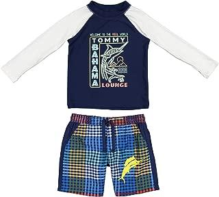 Tommy Bahama Toddler Boys' Long Sleeve Rashguard and Trunks Swimsuit Set