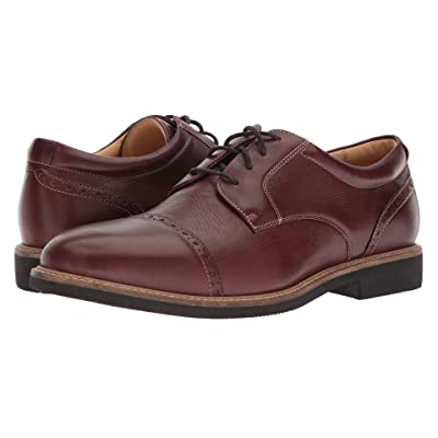 Johnston & Murphy Barlow Casual Dress Cap Toe Oxford (Tobacco Soft Full Grain) Men