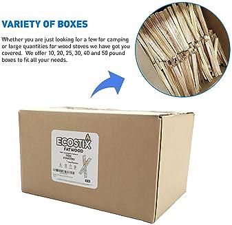 EasyGoProducts Approx. 600 Eco-Stix Fatwood Starter Kindling Firewood Sticks Wood Stoves Camping Firestarter Fire Pit