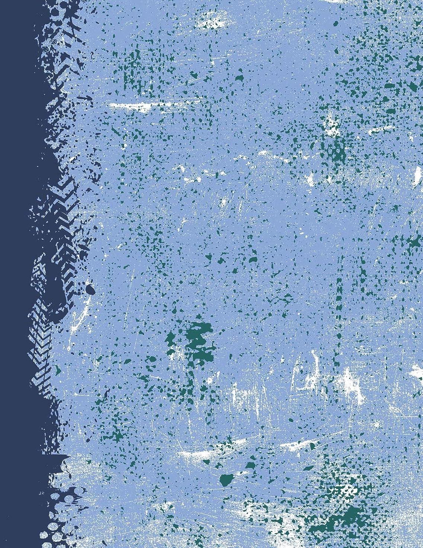田舎者平らな大佐Powder Blue Navy Northwest Green: (8.5 x 11 Lined) Blank Grunge Team Color Notebook College Ruled