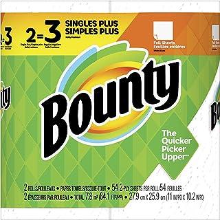 Bounty Paper Towels, White 2 Single Plus Rolls = 3 Regular Rolls, 2 count