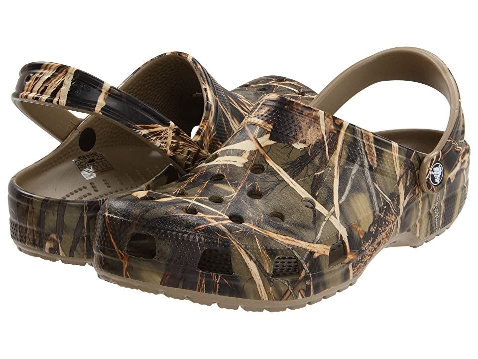 Crocs Classic Realtree(r) V2 (Khaki) Shoes