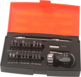 Bahco 808050S-22 Stubby Ratchet Screwdriver Set, 22-Piece
