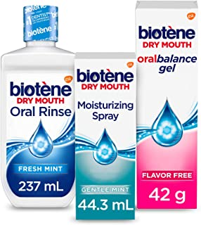 biotène Dry Mouth Management Kit, Oral Rinse - 8oz, Moisturizing Spray, Moisturizing Gel - 1.5 oz