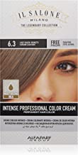 Il Salone Milano Professional Permanent Color Kit - 6.3 Light Golden Brunette - 100% Gray Coverage Hair Dye - Paraffin Free - Ethyl Alcohol Free - Moisturizing Oils