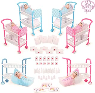 Beverly Hills Doll Collection Newborn Hospital Nursery Care Baby Doctor Playset with 6 Babies, 6 Cradles, and 78 Newborn Baby Dolls Accessories