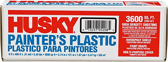 POLY AMERICA 03509H 9-Feet X 400-Feet .31 Mil High Density Painters Poly Film