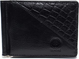 Tanoak Minimalist Bifold Wallets for Men with Money Clip (Black) Designer