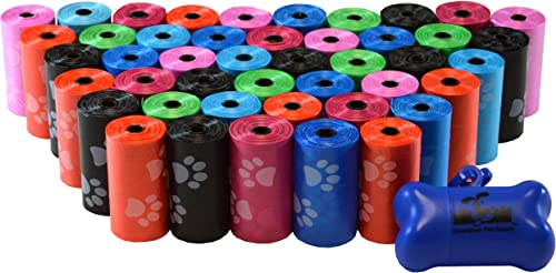 880 Pet Waste Bags, Dog Waste Bags, Bulk Waste Bags on a roll, Clean up Waste Bag Refills - (Color: Rainbow of Colors...