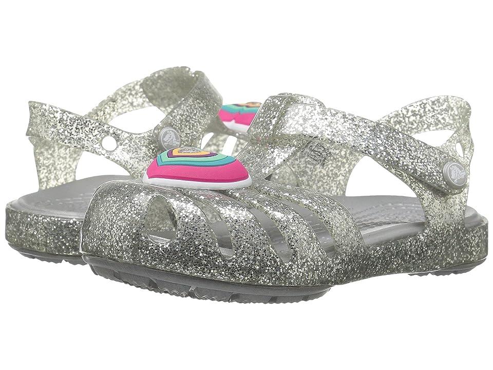 Crocs Kids Isabella Novelty Sandal (Toddler/Little Kid) (Silver) Girls Shoes
