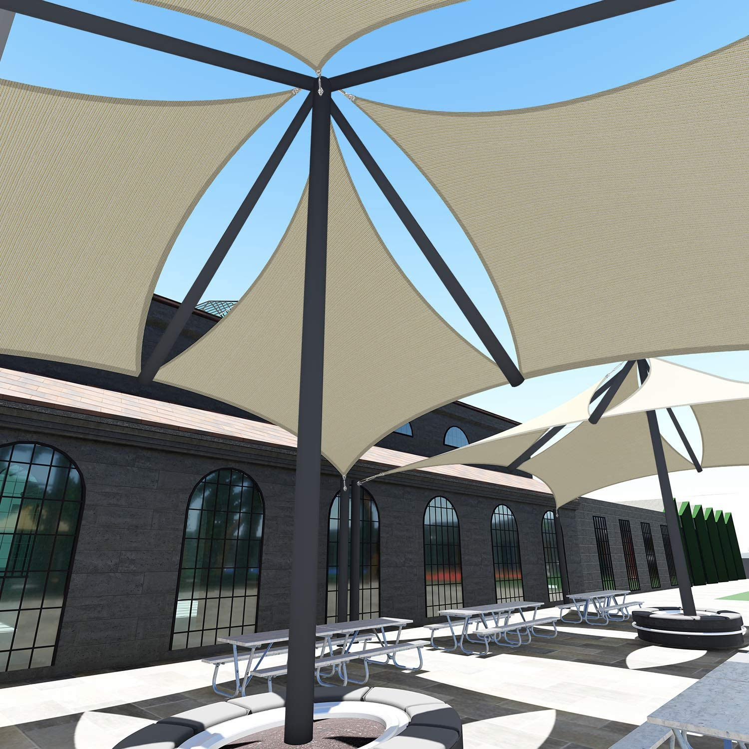 San Jose Mall TANG Sunshades Depot A Ring Wire Design Reinforcemen Cable Steel 1 year warranty
