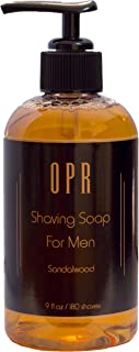 OPR's Sandalwood Shave Soap is a Soothing Foam-Free Shaving Cream for Men that Gives Superior Lubrication, Leaves Skin Smooth, Smells Great, and Provides Up To 180 Shaves, No Shaving Soap Bowl Needed