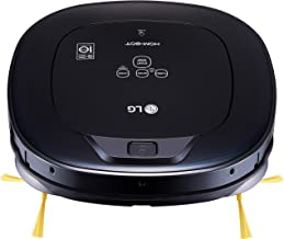 LG HOM-BOT Wi-Fi Enabled Robotic Vacuum, with 7 Smart Cleaning Modes, for Carpets, Hardwood and Tile, CR3465BB, Ocean Black