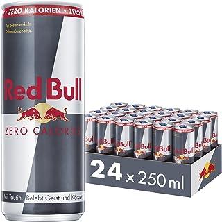 Red Bull Energy Drink Zero Calories, 24er Pack, EINWEG 24 x 250 ml