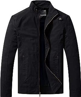 Men's Slim Fit Casual Full Zip Military Jacket