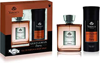 Yardley Gentleman Legacy perfumed gift set, Charismatic masculine fragrance with oriental woody notes, Eau De Parfum 100ml...