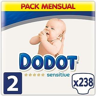 comprar comparacion Dodot Sensitive Pañales para Bebé, Talla 2 (4 a 8 kg), 238 Pañales