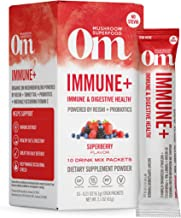 product image for Om Mushroom Superfood Drink Mix Packets, Immune Plus, SuperBerry, 2.1 Ounce, Reishi, Turkey Tale, Agaricus blazei, Vitamin C & Probiotics, Immune Support Supplement