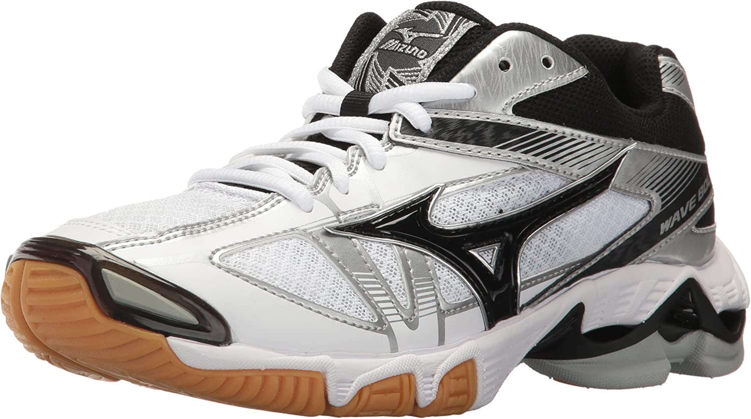 Mizuno Wave Bolt 6 donna Volleybtutti sautope, bianca nero, 6.5 B US