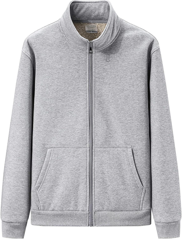 DOSLAVIDA Men's Winter gift Sherpa Lined Full S Zipper Fleece Sacramento Mall Hoodies