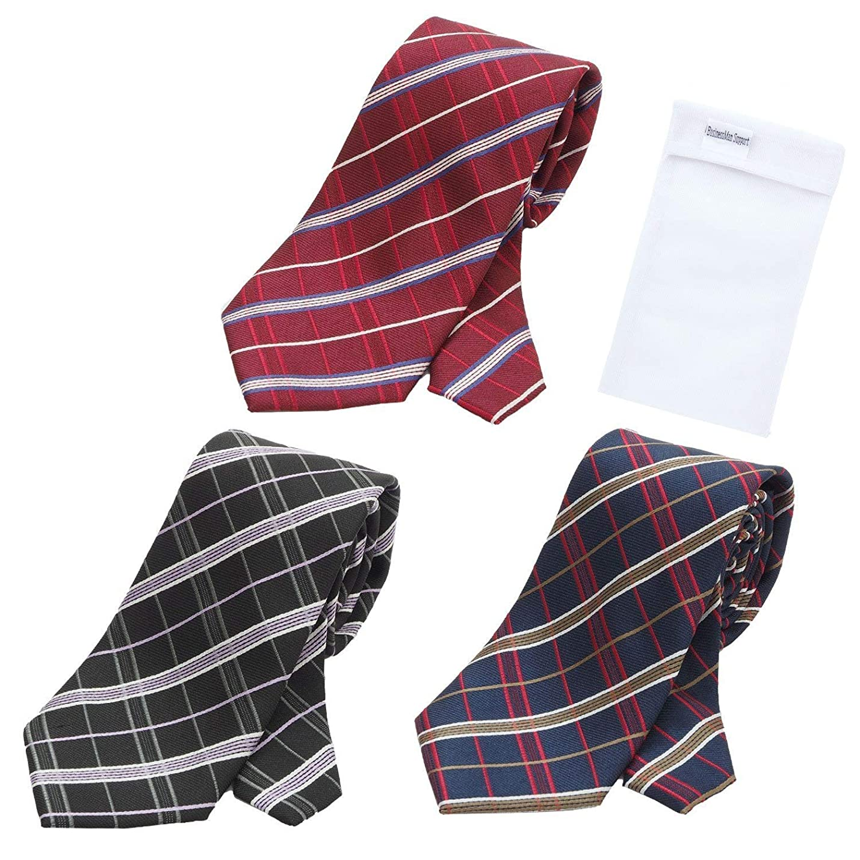 喪カプラー必要ないBUSINESSMAN SUPPORT(ビジネスマンサポート) グリニッジ ポロ 洗えるネクタイ 3本セット 洗濯ネット1個付き 撥水加工