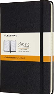 Moleskine - Classic Hard Cover Notebook - Ruled - Medium - Black