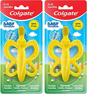 Sponsored Ad - Colgate Baby Toothbrush and Teether, BPA Free – 2 Count