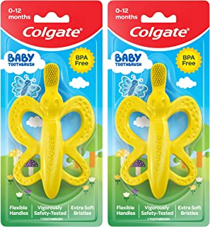 Colgate Baby Toothbrush and Teether, Bpa Free, 2 Count