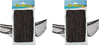 Beistle S50301-BKAZ2 Fish Netting 2 Piece, Black
