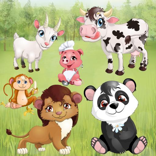 Animali per bambini ed i più piccoli : giochi di puzzle con animali domestici e animali selvatici ! gioco educativo