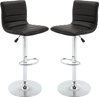 leather adjustable bar stools