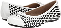 White/Black Woven Soft Nappa Leather/Patent