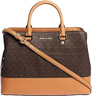 Michael Kors Savannah Monogram Satchel Bag for Women
